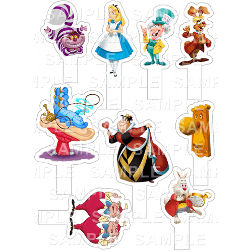 Alice In Wonderland Stand-Up Toppers
