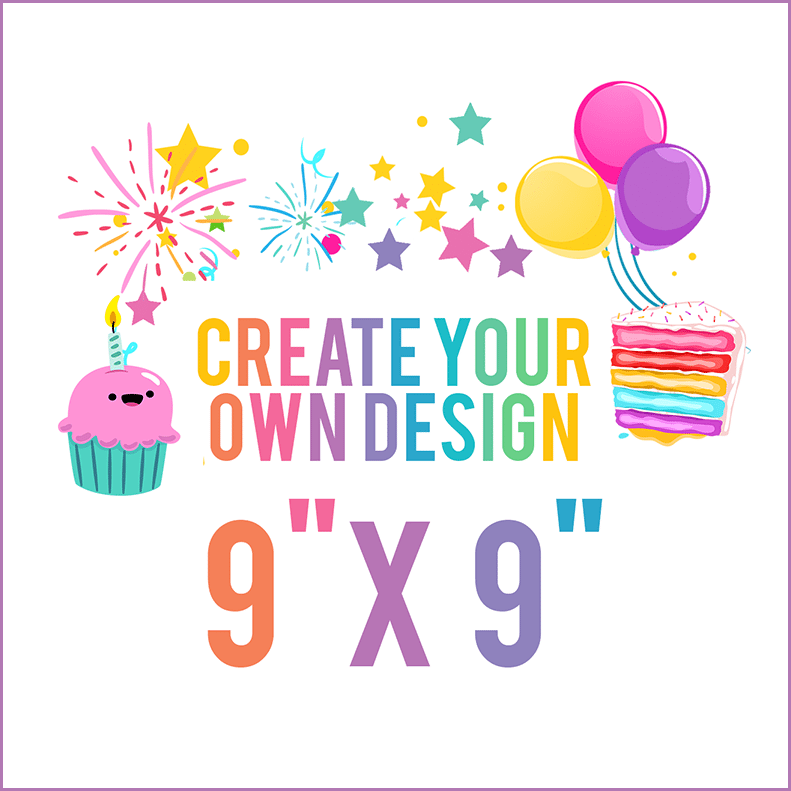 Design Your Own Edible Cake Topper 9 X 9 Square Online Design App