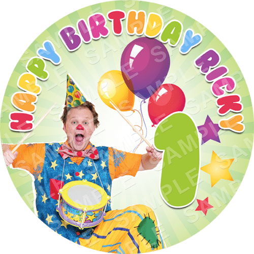 Mr Tumble Edible Cake Topper - Mr Tumble Edible Image - Round
