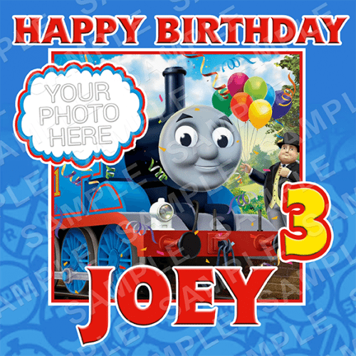 Thomas The Tank Engine Edible Cake Topper - Thomas The Tank Engine Edible Image - Square