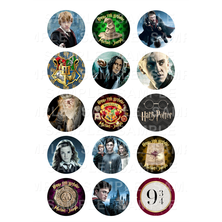 "15 x 2"" - Harry Potter Beast Edible Cupcake Toppers - Harry Potter Edible Image Cupcake"