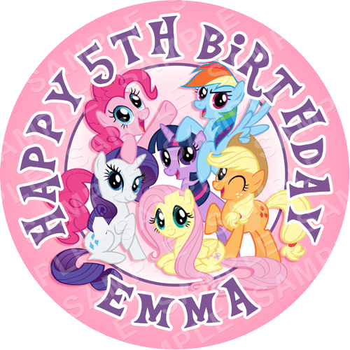 My Little Pony - Edible Cake Topper - Personalised Printed ...