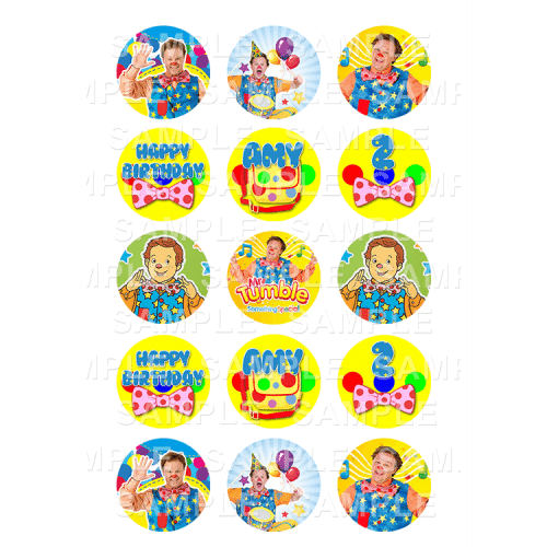 Mr Tumble Edible Cupcake Toppers - Mr Tumble Edible Image Cupcake