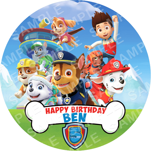 Paw Patrol Rubble Cake Topper