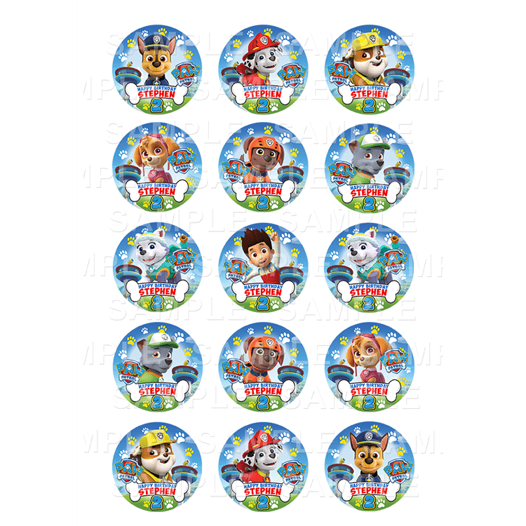 graphic relating to Printable Edible Cake Toppers named Paw Patrol