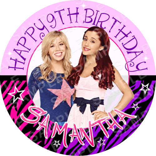 Sam and Cat Edible Cake Topper - Sam and Cat Edible Image - Round