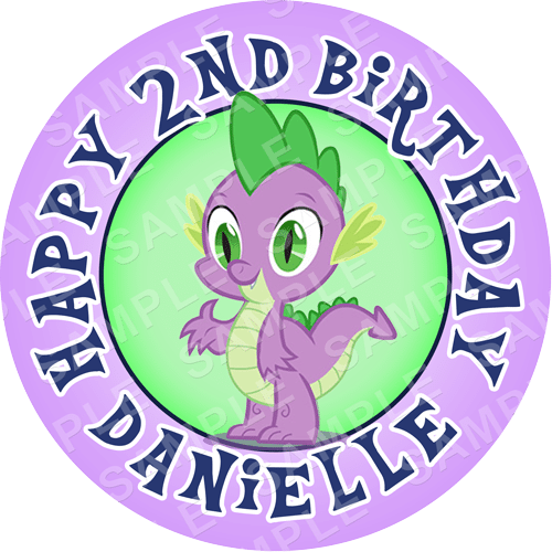 Spike - My Little Pony Edible Cake Topper - My Little Pony Edible Image - Round