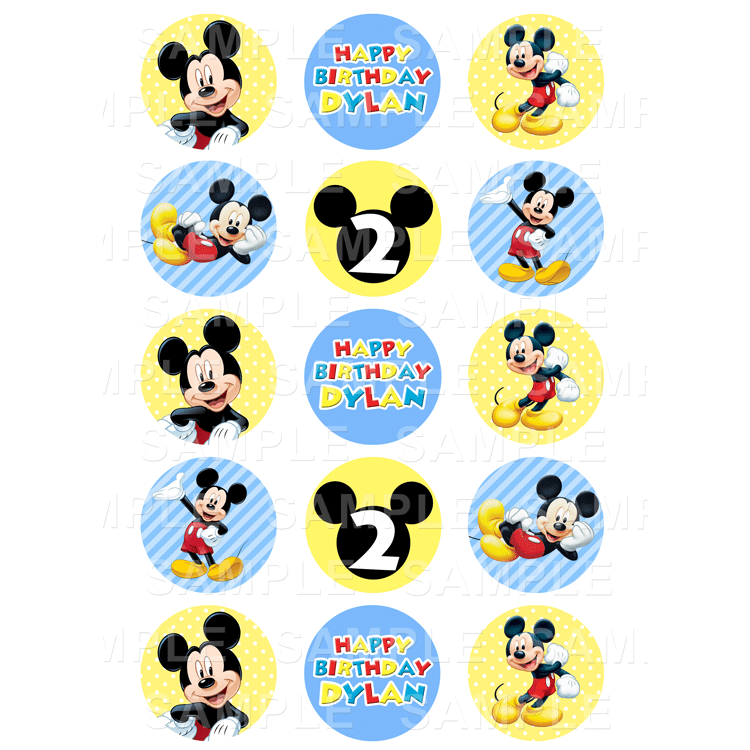 Mickey Mouse Archives Edible Cake Toppers Ireland Personalised