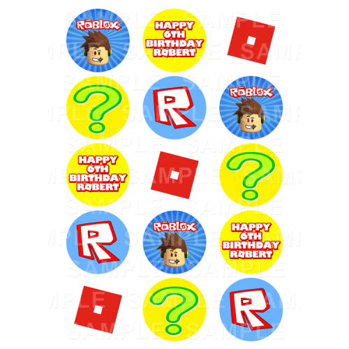 Roblox Edible Cupcake Toppers - Roblox Edible Image Cupcake Toppers