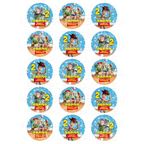 Toy Story Edible Cupcake Toppers - Toy Story Edible Image Cupcake Toppers