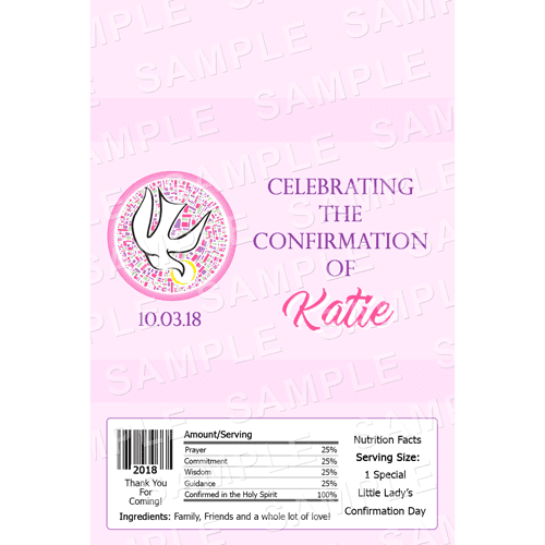Confirmation Chocolate Bar Wrappers - Personalised Chocolate Bars