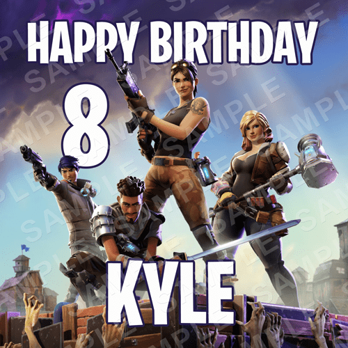 Fortnite Edible Cake Topper - Fortnite Edible Image - Square