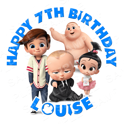 Boss Baby Edible Cake Topper - Boss Baby Edible Image - Round