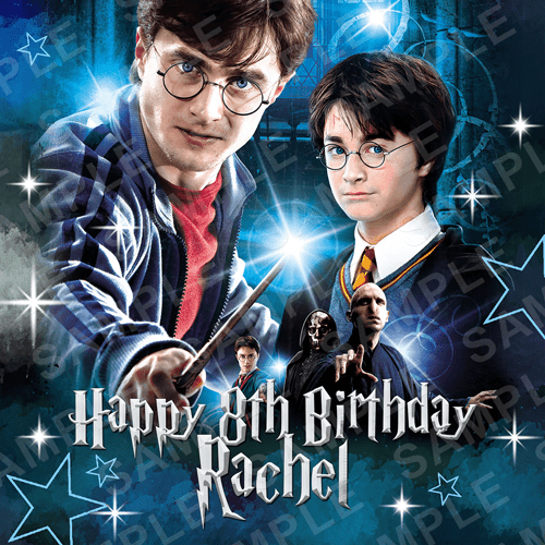 Harry Potter Cake Topper - Harry Edible Image - Square