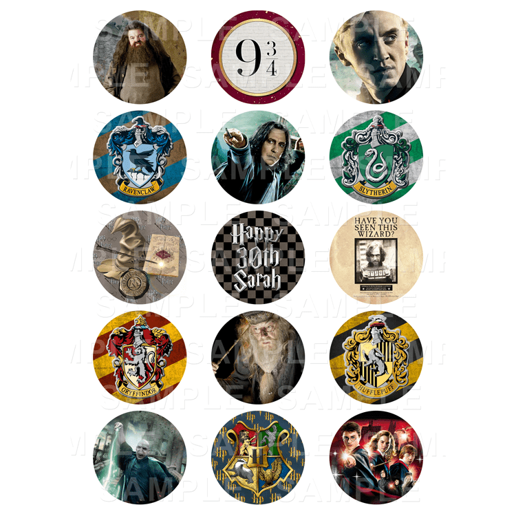 Harry Potter - Edible Cupcake Toppers - Personalised ...