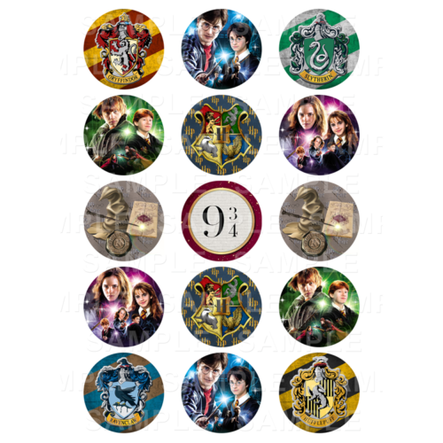 """15 x 2"""" - Harry Potter Beast Edible Cupcake Toppers - Harry Potter Edible Image Cupcake"""