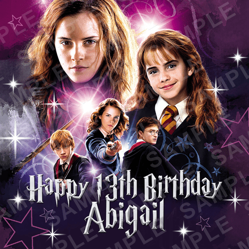 Harry Potter Cake Topper - Hermione Edible Image - Square