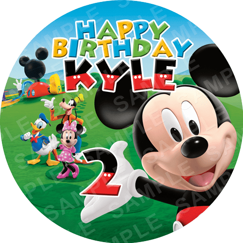 Mickey Mouse Edible Cake Topper - Mickey Mouse Clubhouse Edible Image - Round