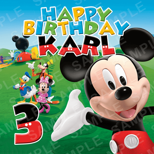 Mickey Mouse Edible Cake Topper - Mickey Mouse Clubhouse Edible Image - Square