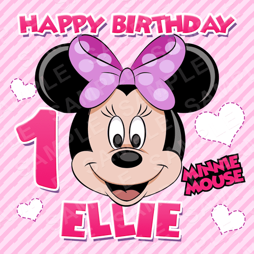 Minnie Edible Cake Topper - Minnie Mouse Clubhouse Edible Image - Square