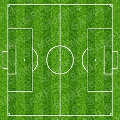 Football Pitch Cake Topper - Football Pitch Edible Image - Square