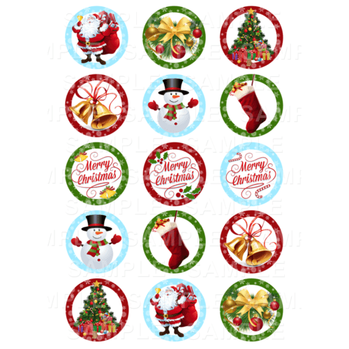 Christmas Cupcake Toppers.Xmas Cupcake Toppers Archives Edible Cake Toppers Ireland
