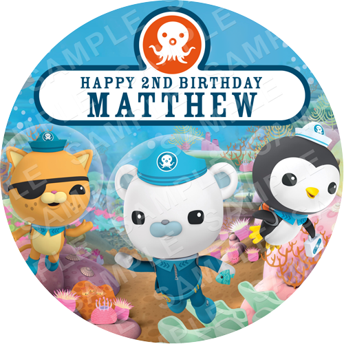 Octonauts Edible Cake Topper - Frozen - Octonauts Edible Image - Round