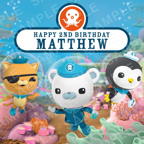 Octonauts Topper - Octonauts Edible Image - Square