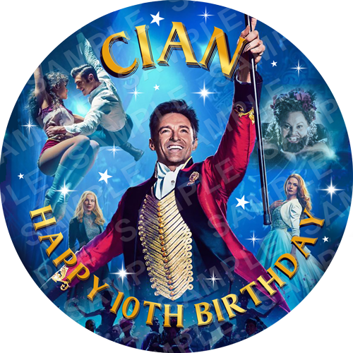 The Greatest Showman Edible Cake Topper - The Greatest Showman Edible Image - Round