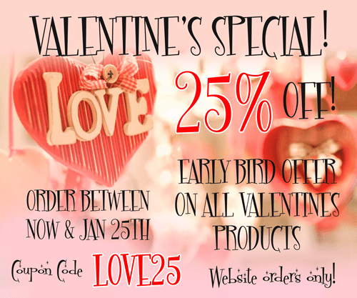 EARLY BIRD SPECIAL 25% OFF
