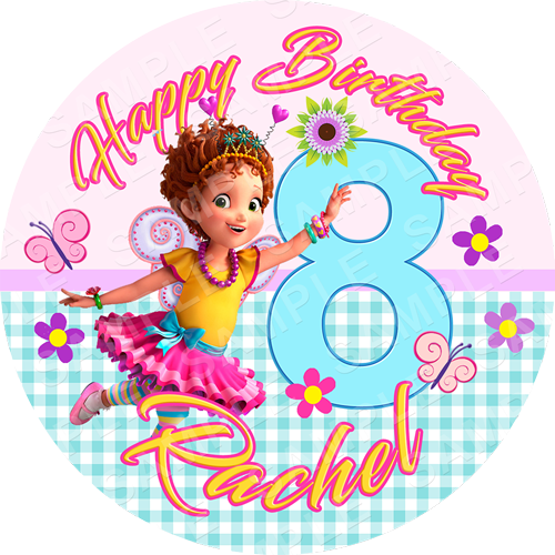 Fancy Nancy Clancy Edible Cake Topper - Fancy Nancy Clancy Edible Image - Round