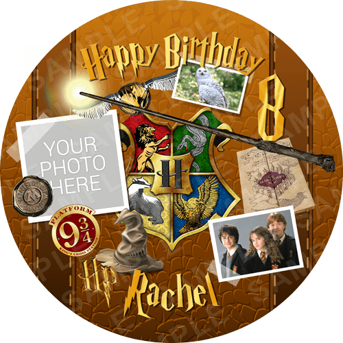 Harry Potter Hogwarts Edible Cake Topper - Harry Potter Hogwarts Edible Image Round