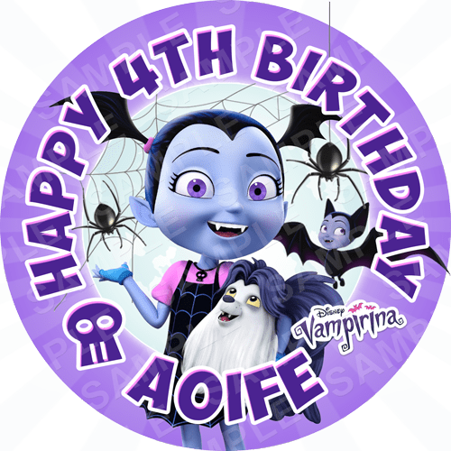 Vampirina Inspired Edible Cake Topper Personalised