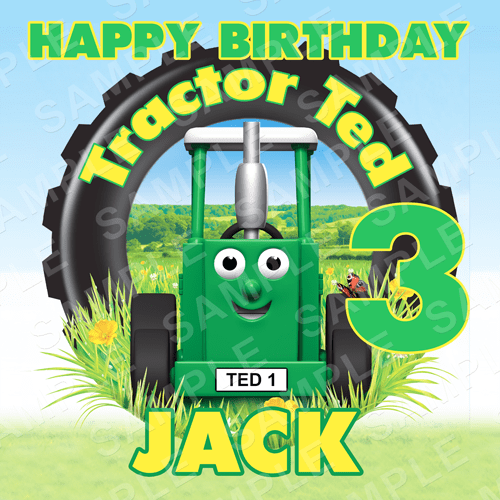 Tractor Ted Cake Topper - Tractor Ted Image - Square