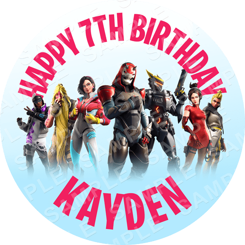 Fortnite Season 9 Edible Cake Topper - Fortnite Edible Image - Round