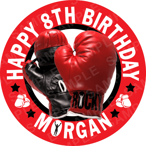 Boxing Edible Cake Topper - Boxing Edible Image - Square