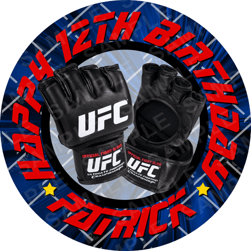 UFC Edible Cake Topper - UFC Edible Image - Square