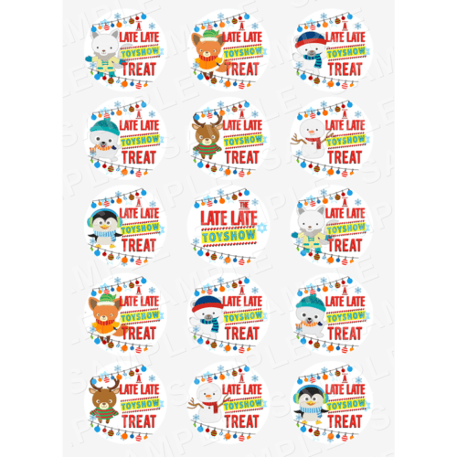 """15 x 2"""" -The Late Late Toy Show Edible Cupcake Toppers - The Late Late Toy Show Edible Image Cupcake"""