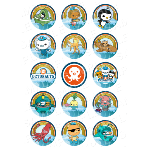 "15 x 2"" - Octonauts Edible Cupcake Toppers - Octonauts Edible Image Cupcake Toppers"
