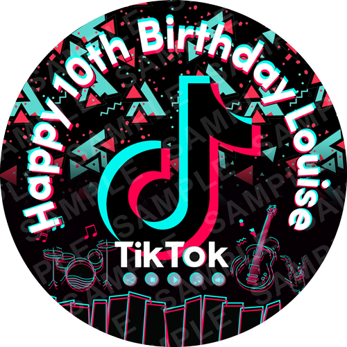 Tiktok Edible Cake Toppers Ireland Personalised Printed Cake