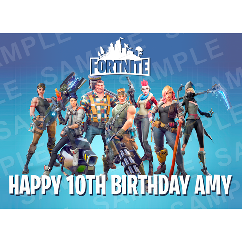 Fortnite Edible Cake Topper - Fortnite Edible Image - Rectangle (A4, A3, Quarter Sheet, Half Sheet)