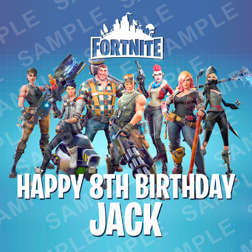 Fortnite Cake Topper - Fortnite Edible Image - Square