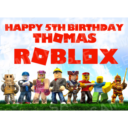 Roblox Edible Cake Topper - Roblox Edible Image - Rectangle (A4, A3, Quarter Sheet, Half Sheet)