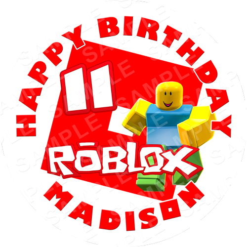 Roblox Edible Cake Topper - Roblox Edible Image - Round