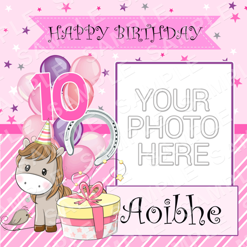Horse Edible Cake Topper - Horse Edible Image - Square