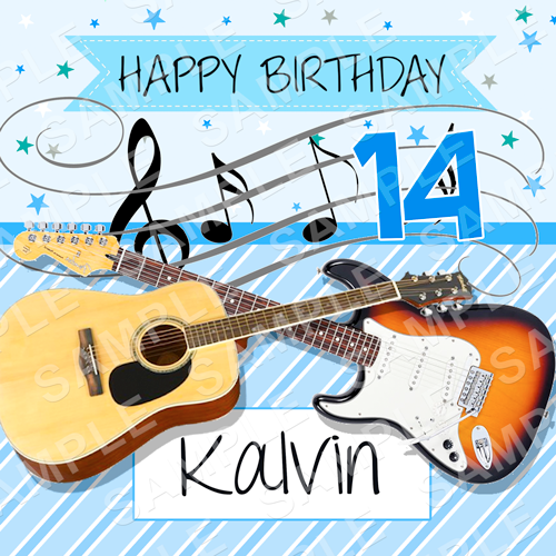 Music Edible Cake Topper - Music Edible Image - Square