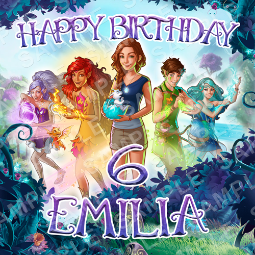 Lego Elves Edible Cake Topper - Lego Elves Edible Image - Square