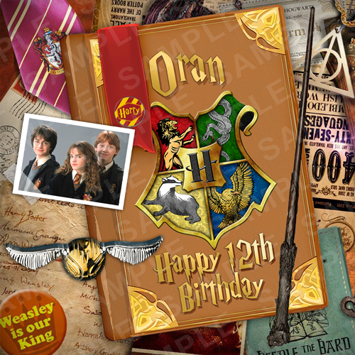 Harry Potter Edible Cake Topper - Harry Potter Edible Image - Square