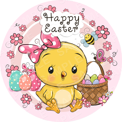 Easter Edible Cake Topper - Easter Edible Image - Round