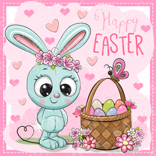 Easter Edible Cake Topper - Easter Edible Image - Square